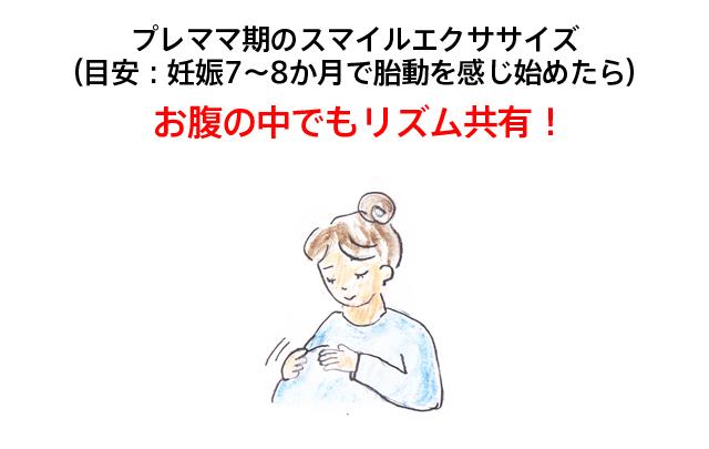 プレママ期のスマイルエクササイズ (目安:妊娠7~8か月で胎動を感じ始めたら)